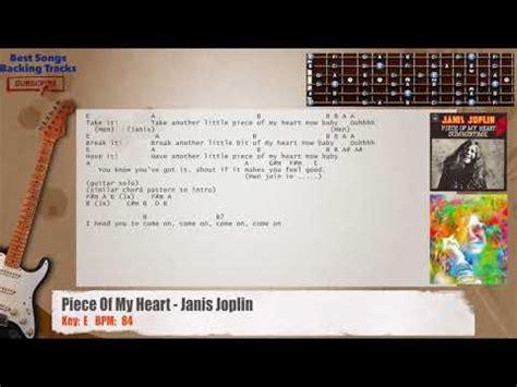 piece   heart janis joplin guitar backing track  chords  lyrics youtube