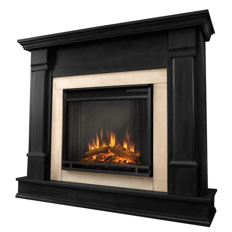 real silverton electric fireplace in black