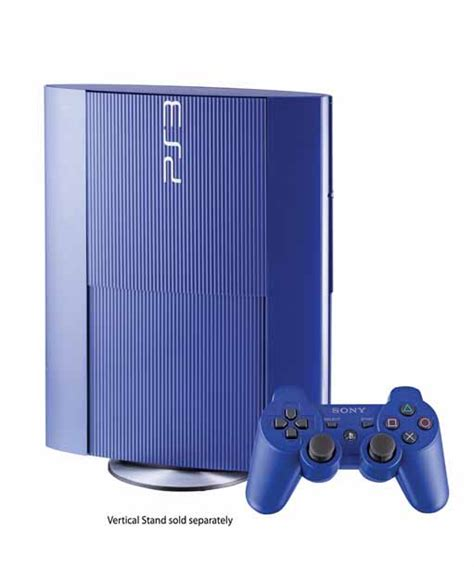 playstation 3 console gamestop playstation3 250gb system azurite blue gamestop premium