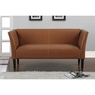 Marcella Tan Bonded Leather Loveseat With Bronze Capped Leather Sofa And Loveseat Deals