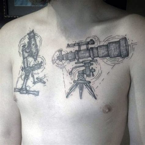 telescope tattoo 90 astronomy tattoos for masculine design ideas