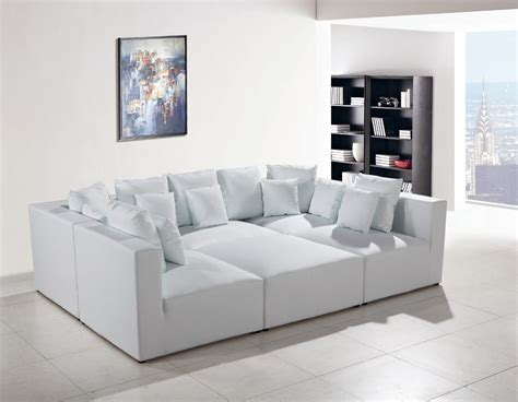 white modern leather sectional 206 modern white leather sectional sofa
