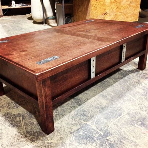 wood working coffee table gun cabinet plans details