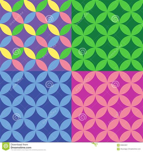 html multiple pattern retro patterns green circles royalty free stock