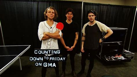 new guys on gma backstage with the guys of 5 seconds of summer video abc