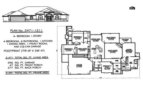 4 Bedroom Ranch Floor Plans 4 Bedroom Ranch House Plans 1 Story 4 Bedroom House Plans 1 Story House Plans Mexzhouse