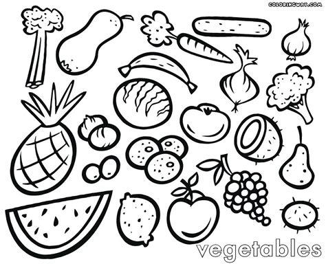 Images To Color by Best Pictures Of Vegetables To Color Fruits And Coloring