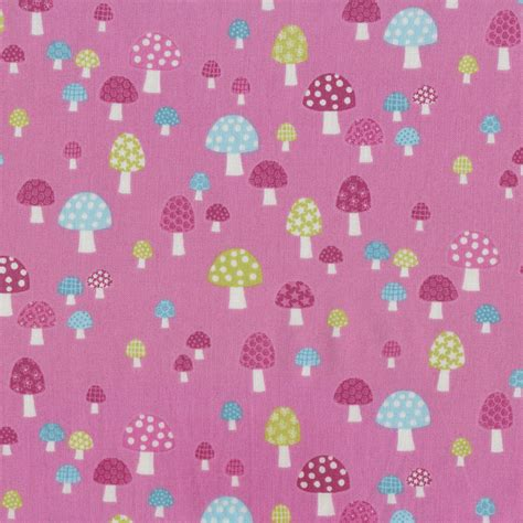 Quilt Fabric Finder by Pink Mushrooms Toadstools Flos Garden On Pink Quilt
