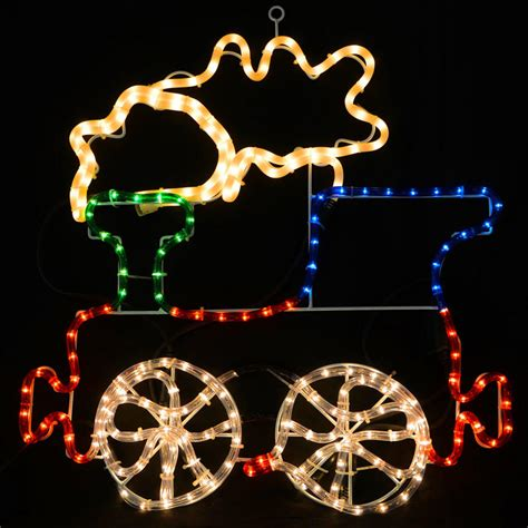 multicoloured led rope light train christmas decoration