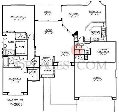 sun city west az floor plans p2603 safford floorplan 1643 sq ft sun city west