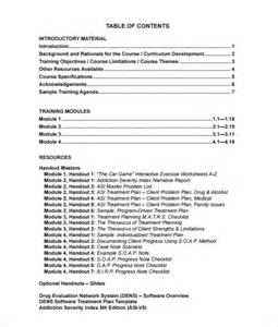 substance abuse treatment plan template plan template