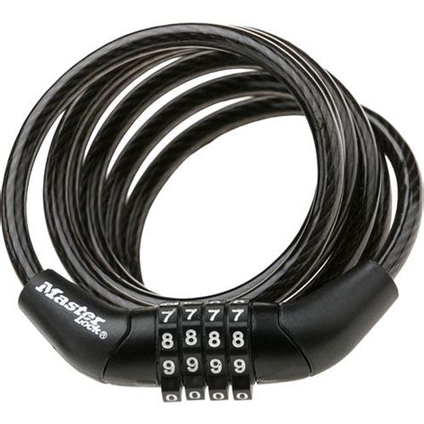 Bike Locks Master Lock 8157dpro 1 master lock 174 4 resettable combination cable lock academy