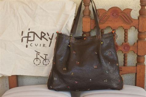 Henry Cuir Chateau Bag by Amazing Embroidered Henry Cuir Bag Henry Cuir
