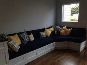 Custom Cusions custom cushion sewn banquette seat bench cushion with