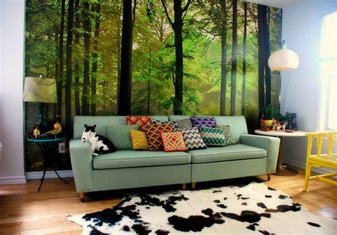 wall murals for living room living room natural forest wall murals decal a interior