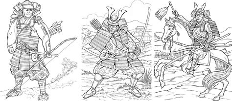 free coloring pages of super samurai