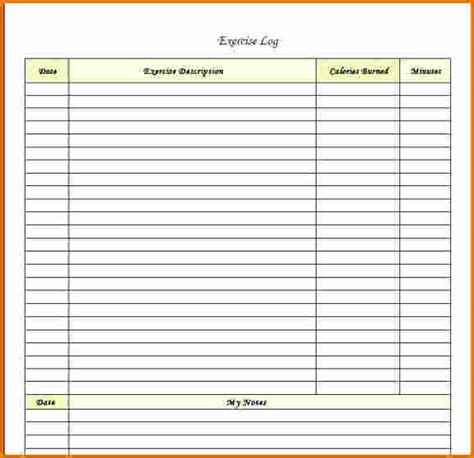 blank workout schedule template 6 blank workout log divorce document