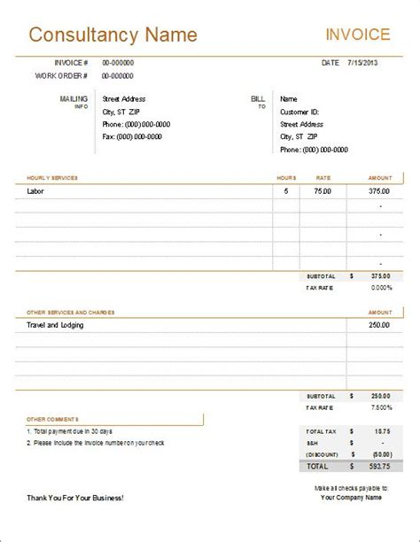 design fee invoice 68 best free excel templates images on pinterest