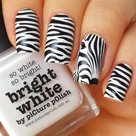 Zebra Nail Designs