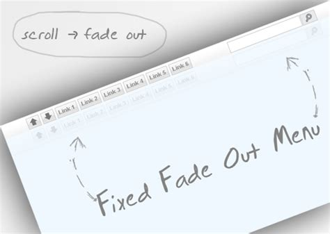 fixed top bar css fixed fade out menu a css and jquery tutorial