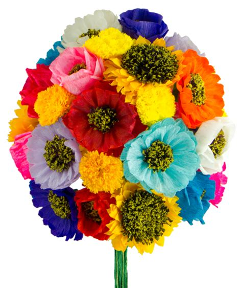 How To Make A Mexican Flower Out Of Tissue Paper - mexican paper flowers