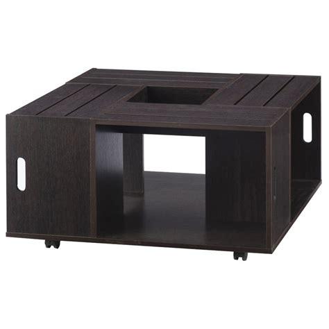 Tessa Coffee Table Furniture Of America Tessa Square Coffee Table In Espresso Ynj 142 5