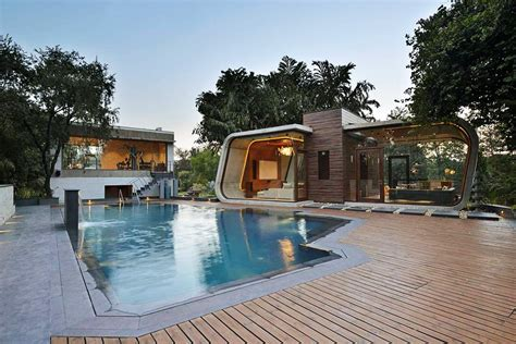 house of pool new delhi pool house by 42mm architecture archiscene
