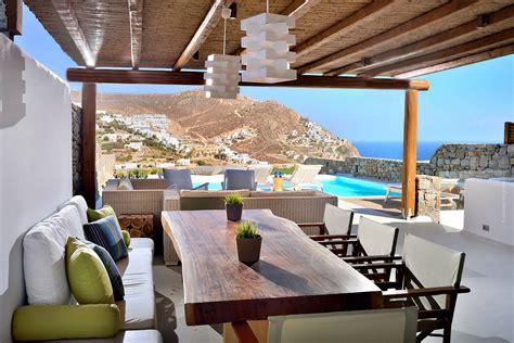 Greek Mediterranean Style Villa In Mykonos With Modern