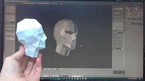 3d Model Papercraft - blender from 3d model to paper model