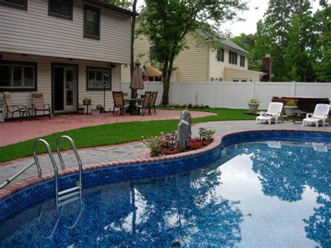 pool patio ideas here you go home landscaping designs long island weather