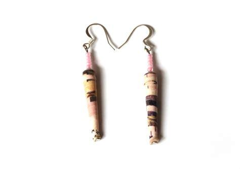 Lipstick Handmade - handmade lipstick pink earrings by afriartisan