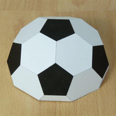 How Do U Make A Paper Football - football paper models soccer
