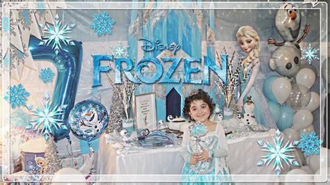 princess angelinas frozen birthday party decorated  rabia nunes youtube