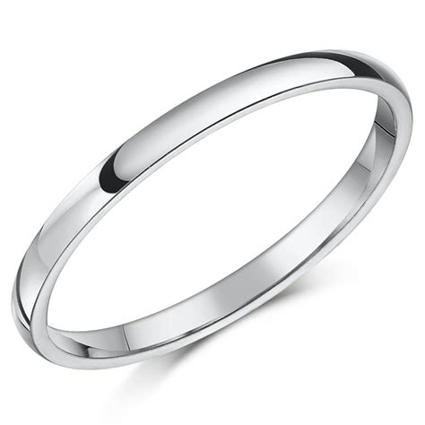 18ct white gold court shaped wedding ring court