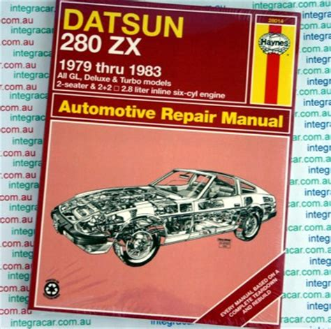 datsun 280zx 1979 1983 haynes service repair manual sagin workshop car manuals repair books