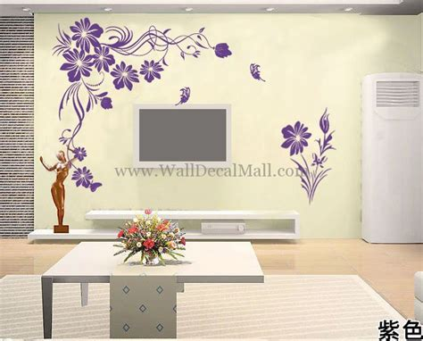 flowers and butterflies wall stickers wall stickers butterflies and flowers peenmedia