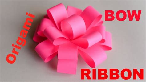 How To Make A Bow With Paper Ribbon - how to make origami bow ribbon easy origami ribbons for