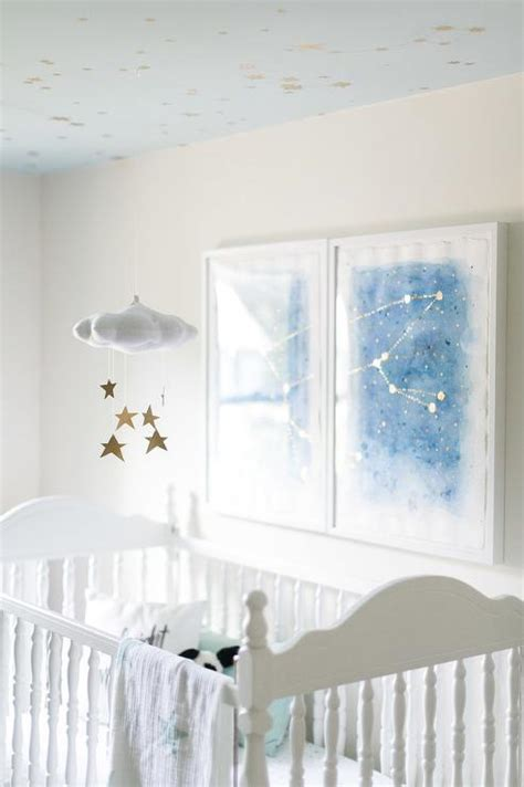 Nursery Ceiling Decor Baby Jives Cloud Mobile In Gold Transitional Nursery Behr Rainwashed