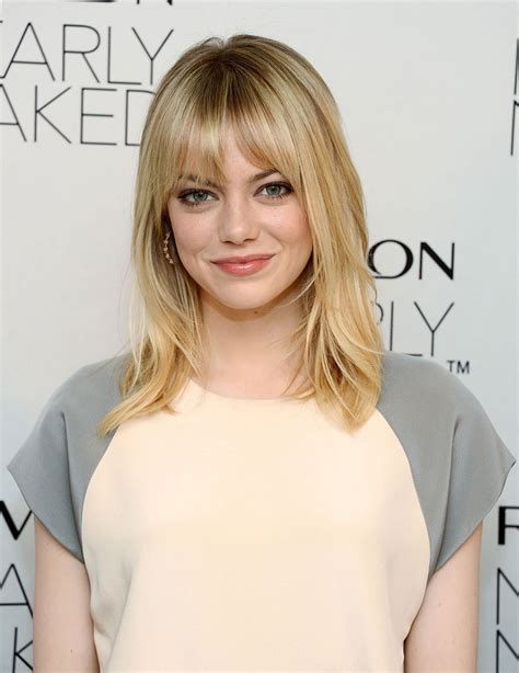emma stone recent emma stone at revlon s new nearly naked makeup launch in