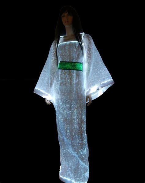 led light up clothing luminous fabric luminous clothing fiber optic clothing