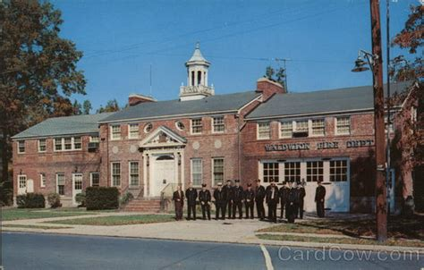 Waldwick Post Office by Municipal Building And Department Waldwick Nj Postcard