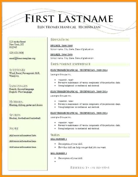 Resume Template For Word 2018 Ladylibertypatriot Com 2018 Word Resume Templates