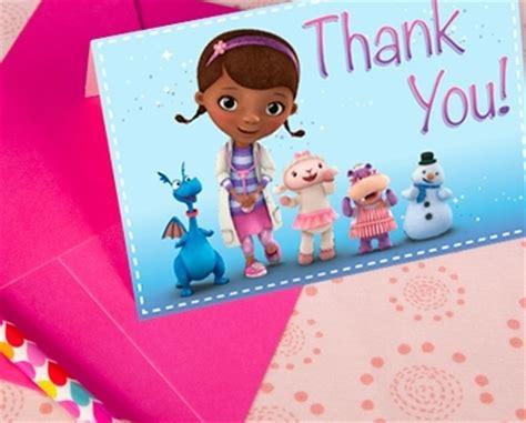 doc mcstuffins thank you card template doc mcstuffins invitations disney family