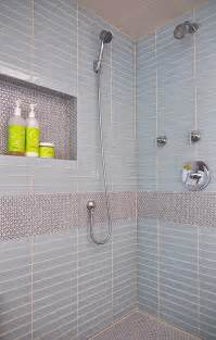 penny tiles: penny tiles used to create an accent feature in the contemporary