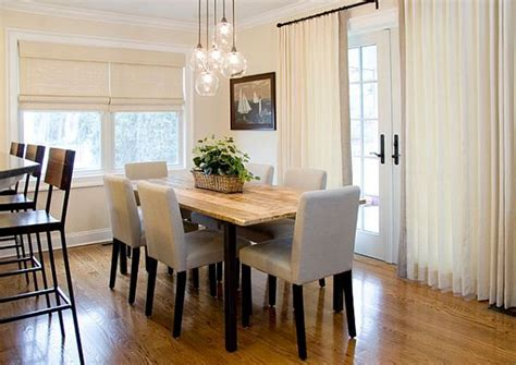 sheer curtain ideas dining room traditional with white mini glass light fixtures for cute dining room ideas with