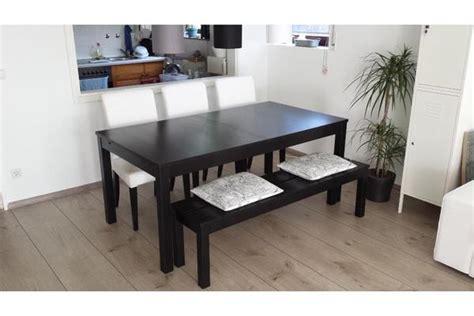 Ikea Esstisch Bank ikea bjursta esstisch braunschwarz 175x95cm 3 st 252 hle