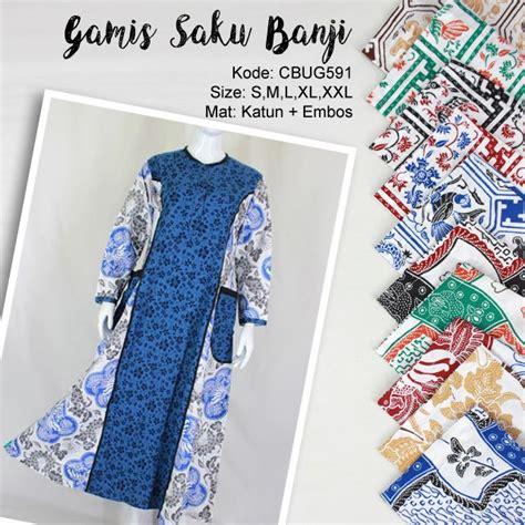Kaos Saku Motif baju batik gamis saku motif banji gamis batik murah batikunik
