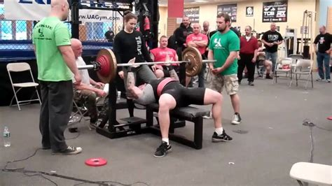 345 bench press dom costantino 235 bwt 315 345 miss 375 bench press