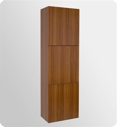 Teak Bathroom Storage 17 75 Quot Fresca Fst8090tk Teak Bathroom Linen Cabinet W 3 Large Storage Areas Side Cabinets