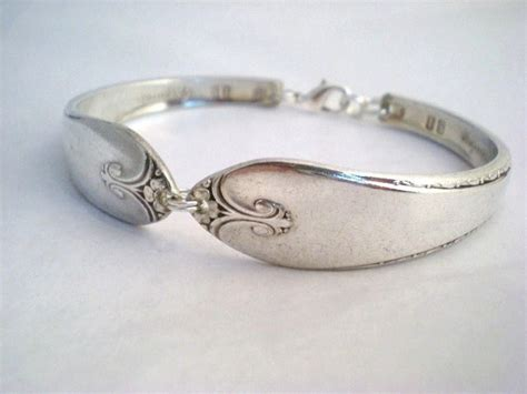silver spoon jewelry spoon bracelet silver spoon bracelet upcycling